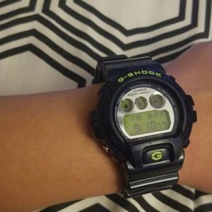 Navy blue Casio G-schock watch